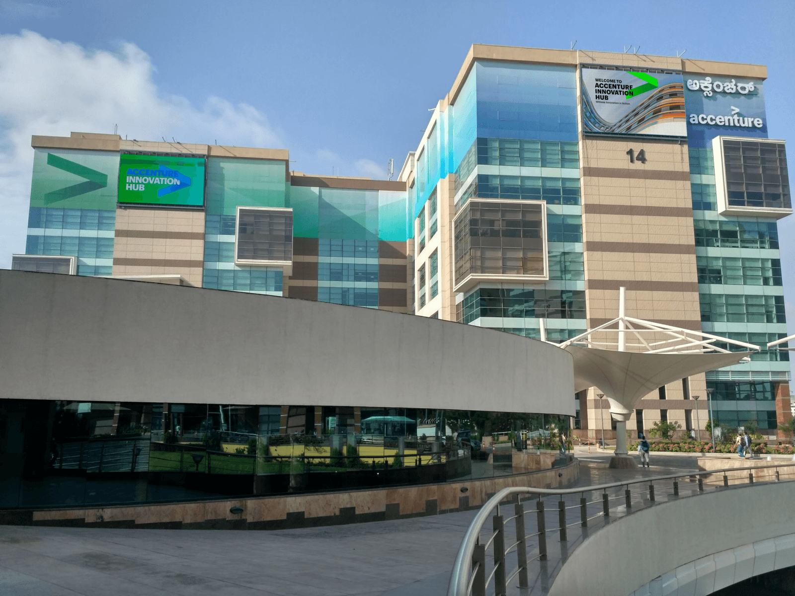 Outdoor LED display at accenture
